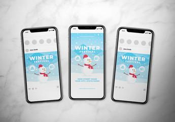 Winter Festival Social Media Layout Set