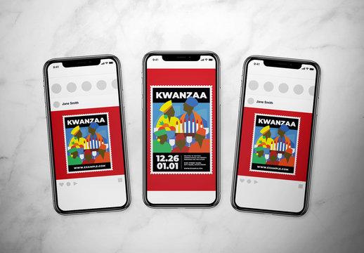 Kwanzaa Event Social Media Layout Set