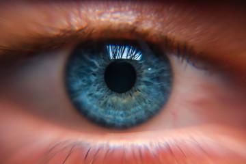 Deurstickers Iris blue eye