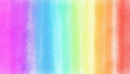 rainbow chalk soft colors shade on white watercolor texture paper. Abstract watercolor red, green, yellow, orang stripe on white background. Bright background with space for text and/or image