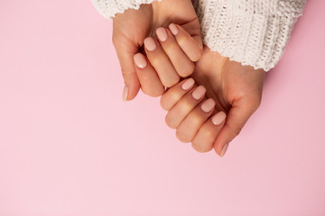 Foto op Canvas Manicure Beautiful woman's nails with manicure
