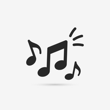 Music notes icon. Musical key signs. Vector symbols on white background.