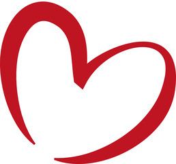 Red heart the symbol of love and friendship
