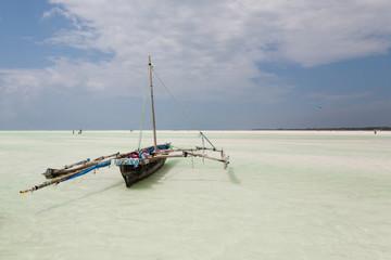 Zanzibar beach landscape, Tanzania, Africa panorama