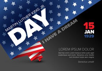 Martin Luther King Jr. Day Poster Layout