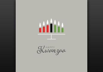 Happy Kwanzaa Card Layout