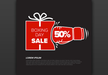 Boxing Day Sale Flyer Layout