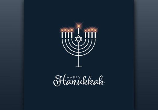Happy Hanukkah Card Layout