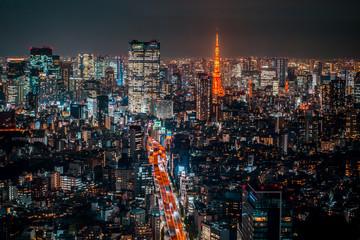 Photo sur Aluminium Tokyo Night view of TOKYO - JAPAN