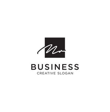 Signature Letter M Logo Line Design Inspiration Vector Illustration