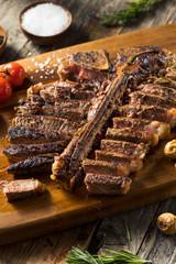 Wall Mural - Homemade Grass Fed Cut Up T Bone Steak