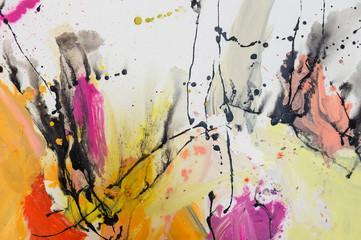 Abstrakte, handgemalte Gemälde