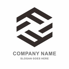 Geometric Square Letter F Business Company Vector Logo Design