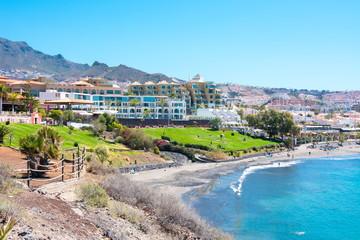 Fotobehang Cyprus Costa Adeje coastline, Tenerife, Canary islands, Spain
