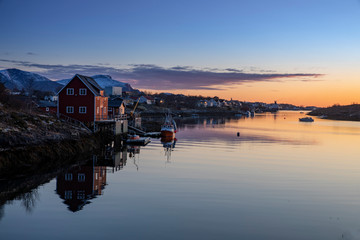 Sunset at Helgeland in Nordland county, Northern Norway