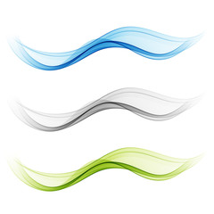 Smooth clear beautiful waves set Wave abstract background
