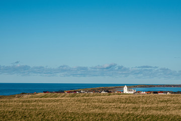 kleines Dorf an der Westküste von Dänemark