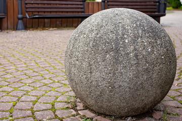 Garden Poster Stones in Sand stone in the garden