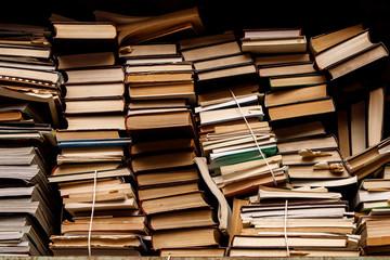 many old books on a shelf