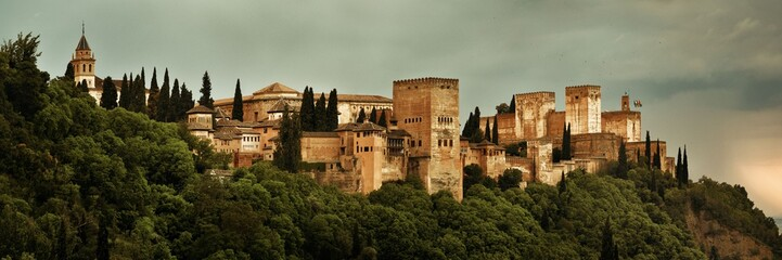 Granada Alhambra panoramic view