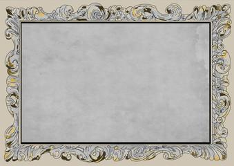 elegant fancy border frame gold scents blank background