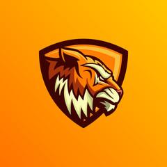 Abstract Logo, illustration, lion, abstract, modern, design, digital