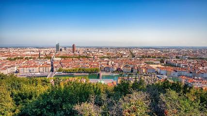 Fototapete - City of Lyon in daytime