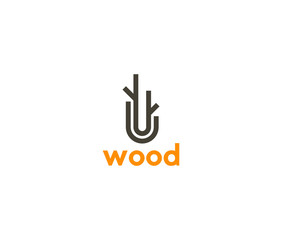 Wood logo icon vector template