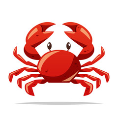Crab seafood vector isolated illustration