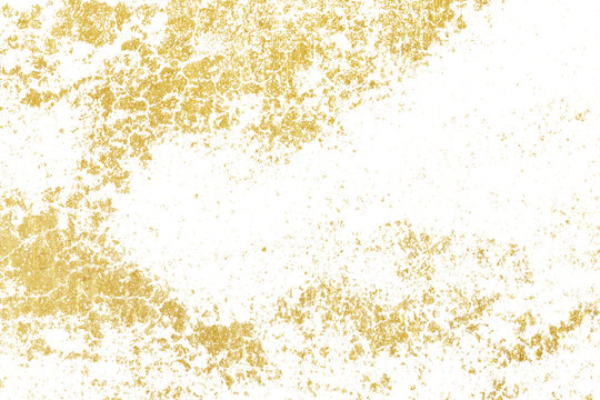 Brush stroke design element. Gold watercolor texture paint stain abstract illustration.
