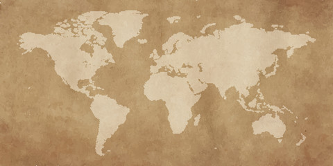 poligon world map vintage background