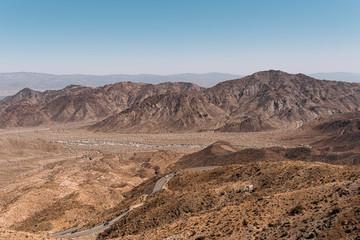 Aussicht auf das wunderschöne Palm Desert in Kalifornien USA