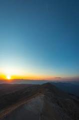 Recess Fitting Gray traffic People enjoy the sunset on the observation deck of Tahtali Mountain near Kemer, Aetalia, Turkey