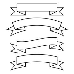 set of  ribbon banner icon