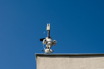 Security camera in the city center