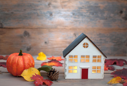 Miniature house autumn