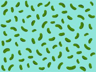 Hand-drawn abstract pickle vector illustration for National Pickle Day on blue background