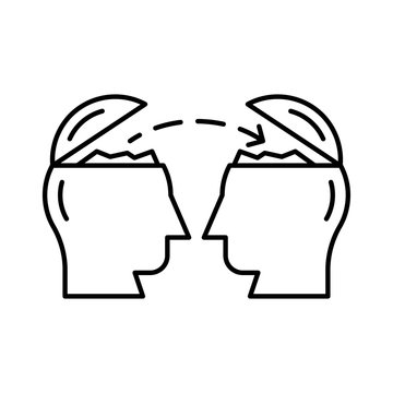 icon set for mind  , brain  and idea