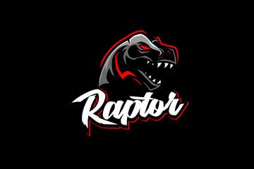 Raptor Tyrannosaurus or T-rex vector logo template Fotomurales