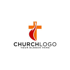 Church vector logo symbol graphic abstract template