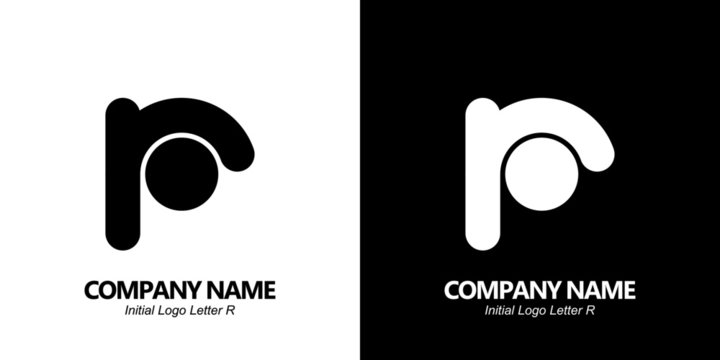 Initial letter R logo vector design template. Initial R minimalist logo template vector.