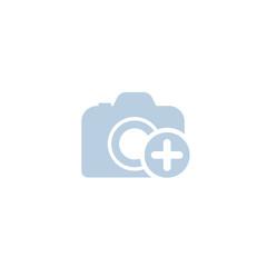 Add photo icon on white