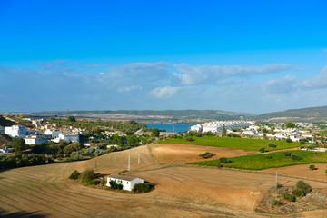 View at surroundings of Arcos de la Frontera, white town of Cadiz. Andalusia,Spain.