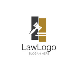 law firm vector concept logo design template