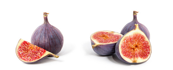 Fig isolated on white background. Papier Peint