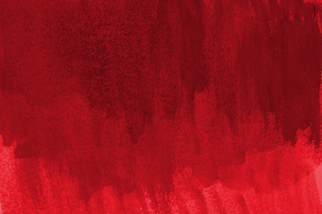 Abstract red background in watercolor style Wall mural