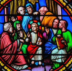 Stained Glass in Notre-Dame-des-flots, Le Havre - Christ among the Doctors