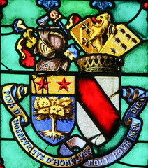 Stained Glass in Notre-Dame-des-flots, Le Havre - Coat of Arms