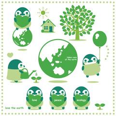 ペンギンエコロジー(緑系)