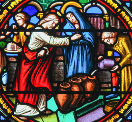 Stained Glass in Notre-Dame-des-flots, Le Havre - Wedding at Cana